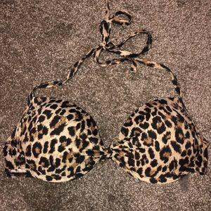 34C Victoria's Secret Cheetah Bikini Top Push-up